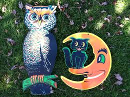 Vintage Halloween Owl by Vintage Halloween Cardboard Cutouts