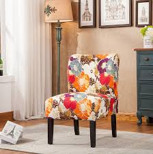 amazon com roundhill furniture capa print fabric armless
