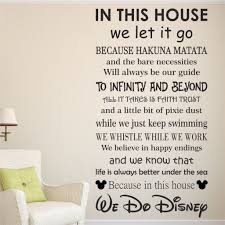 disney quote wall decals unique disney wall decal related items disney quote wall decals we do disney house rules vinyl wall art sticker quote kids family