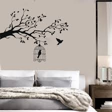 vinyl decal animals and birds wall stickers caged bird tree branch vinyl decal animals and birds wall stickers caged bird tree branch let bird free n388