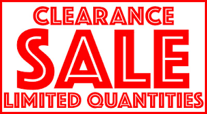 clearance items e rv