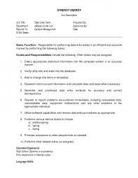 Data Entry Specialist Job Description Resume by Top Data Entry Clerk Cover Letter Samples Oyulaw Resume File