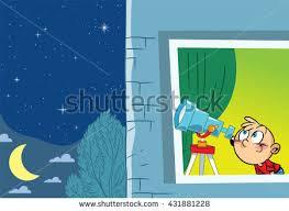 illustration shows astronomer who observes stock illustration