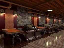 design for cafe bar steunk cafe concept sketch toon illustration the work of oscar