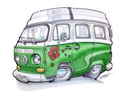 volkswagen van cartoon dazzlarock dazzlarock twitter
