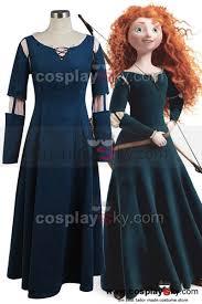 brave princess merida dress cosplay costume brave cosplay