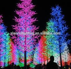 high simulation led lighted trees for decorations