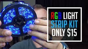 review searik rgb led light strip kit tv backlight 15 youtube
