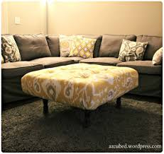 Diy Storage Ottoman Coffee Table by Coffee Table Diy Tufted Ikat Ottoman From Upcycled Pallet With