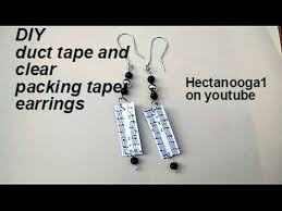 duct earrings jewelry diy duct and clear packing earrings