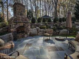 Fire Pit Gazebo by Rustic Patio With Raised Beds U0026 Fire Pit In Ellicott City Md