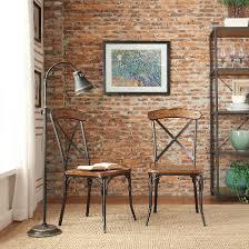 Distressed Bistro Chair Merida Bistro Dining Chair Metal Distressed Ash Set Of 2