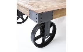 Table Basse Verre Roulette Industrielle by Table Basse Sur Roulettes Industrielle Table Basse Relevable De