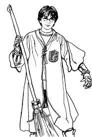 broom fly harry potter coloring pages harry potter coloring