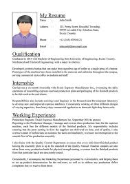 standard format of resume a resume format resume format and