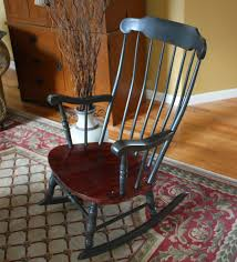 Vintage Rocking Chair For Nursery Antique Colonial Rocking Chair Sold Hand Wax Annie Sloan