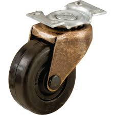swivel chair casters shepherd 2 in soft rubber swivel plate casters with 80 lb load