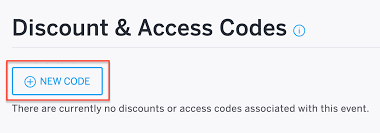 Lights All Night Promo Code How To Set Up Discount Codes For One Or Multiple Events