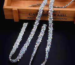 popular rhinestone ab trim buy cheap rhinestone ab trim lots from free ship 5yard lot blingbling ab rhienstone mesh trim strass chain banding crystal wedding