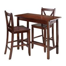 kitchen island with stools winsome 3 pc kitchen island table with 2 v back stool by oj
