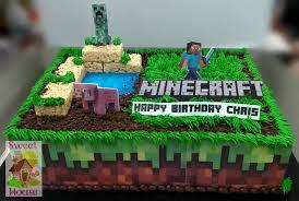 mindcraft cake sweet house cake supply bakery kid s birthday cakes