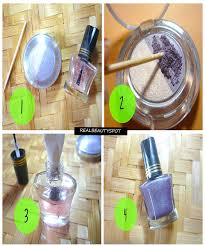 diy nail polish using eyeshadow theindianspot