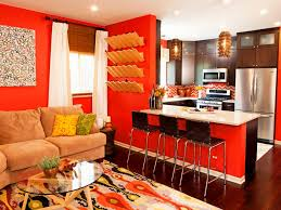 living room decor orange interior design