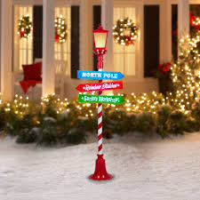 gemmy lightshow christmas lights 6 u0027 projection lamp post with