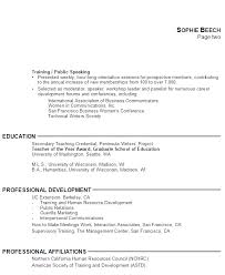 Examples Of Resumes For Teachers by Education Resume Template