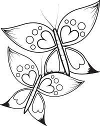 free printable butterflies heart wings coloring kids