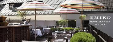sterneküche münchen emiko restaurant im louis hotel münchen dachterrasse münchen