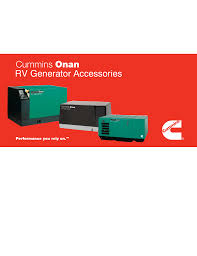 cummins onan rv generators accessory catalog