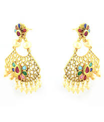 chandeliers earrings sewad artificial golden chandeliers earrings for women buy sewad