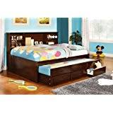 amazon com merlot full captain bookcase daybed with 3 drawers