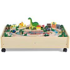 train and track table everearth double sided road map farm play table plus free figure of