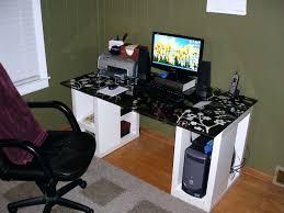 Unique Computer Desks Articles With Wooden Gaming Desk Blueprints Tag Trendy Wooden