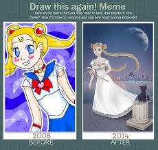 Sailor Moon Meme - draw this again sailor moon by kittycarousel on deviantart