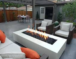 Fire Pit Outdoor Furniture by Outdoor Dining Table With Built In Fire Pit Backyard Patio