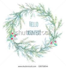 hello christmas tree hello winter watercolor christmas tree stock illustration