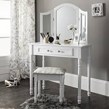 coiffeuse chambre lot coiffeuse miroir et tabouret style shabby chic