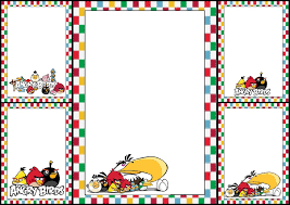 angry birds free printable invitations cards images