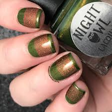 night owl lacquer dreaming of green collection snacks on rotation