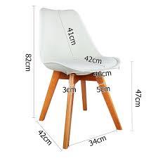 set of 2 replica eames retro white u0026 beech designer chairs ws