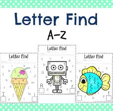cute letter find worksheets fun activity for kids educational