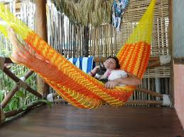 relaxing in the hammock on the porch picture of zomay hotel