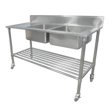 Buy Portable Commercial Kitchen Sink Bench Stainless Steel W - Commercial kitchen sinks stainless steel
