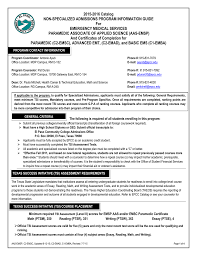2015 2016 catalog non specialized admissions program information