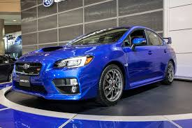 blue subaru wrx 2015 subaru wrx sti beautiful in blue at toronto auto show