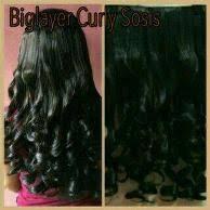 hair clip murah barang sejenis dengan hairclip biglayer wavy curly