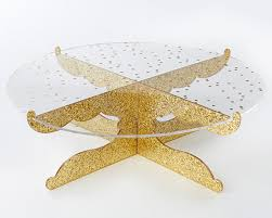 acrylic cake stands gold glitter acrylic cake stand party time kate aspen